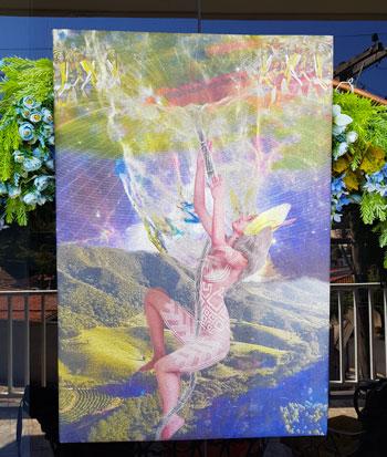 Title: Kayapó Cosmology Artist: Henrique Vieira Filho Mixed media on canvas Size: 60 x 90 cm - 23,6 x 35,4 inches Year: 2020